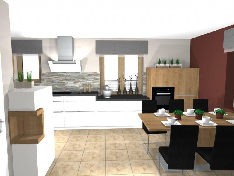 Die küche im esszimmer