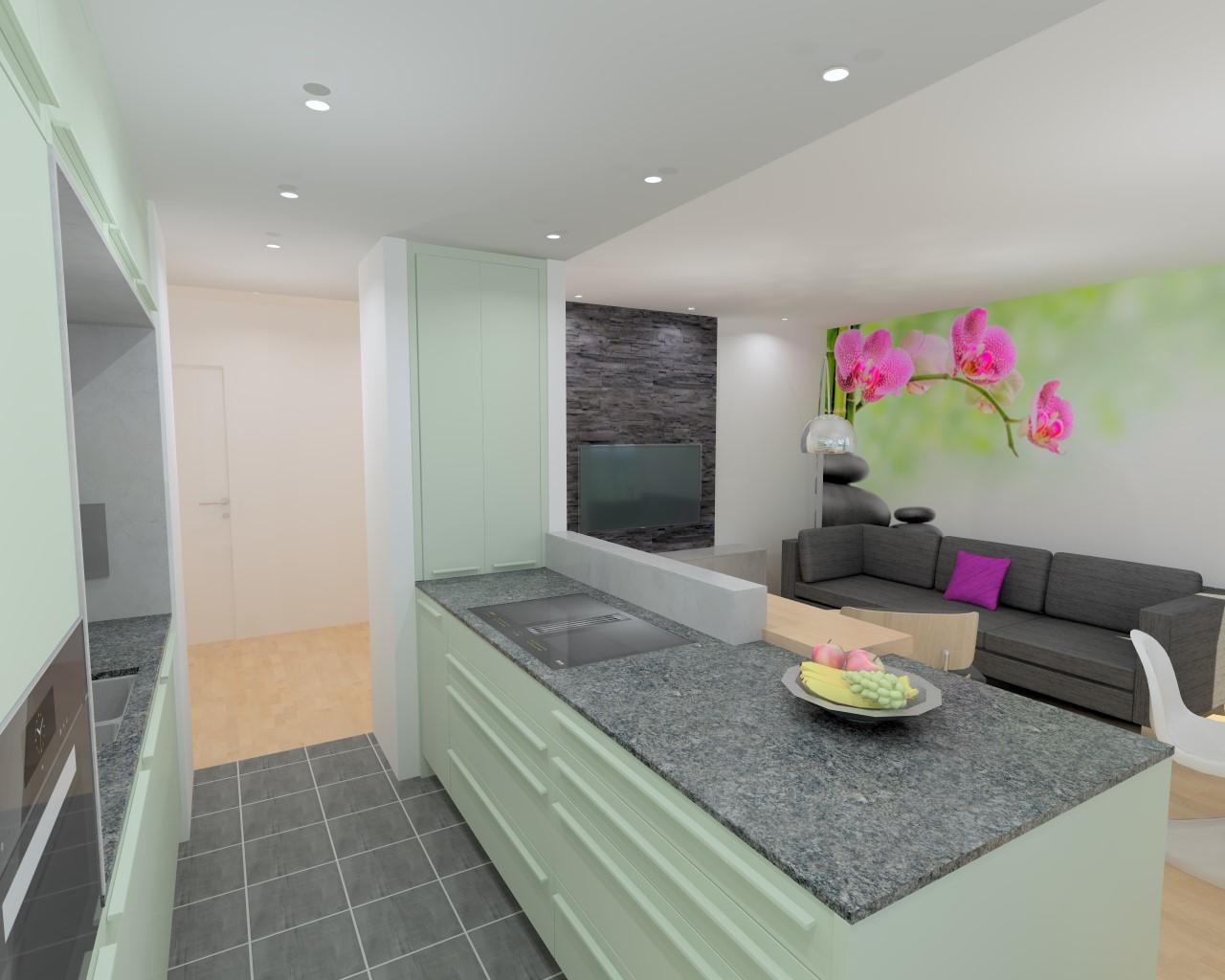k chenwerkstatt amberg le corbusier vert anglais p le. Black Bedroom Furniture Sets. Home Design Ideas